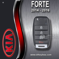 REFURBISHED Kia Forte Remote Flip Key 4B / Trunk / Gen 2 / OSLOKA-OKA870T (YD) / 2014 - 2016