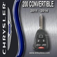 REFURBISHED<br>Chrysler 200 Convertible Remote Head Key 5B Trunk / Top - OHT692427AA / 2011 +