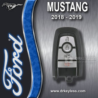 Ford Mustang 1-Way Smart Key 4B Trunk - Mustang Logo - M3N-A2C931423 / 2018 - 2019