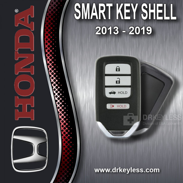Honda Smart Key Shell Case 4B Trunk / High Security / 2013 - 2019