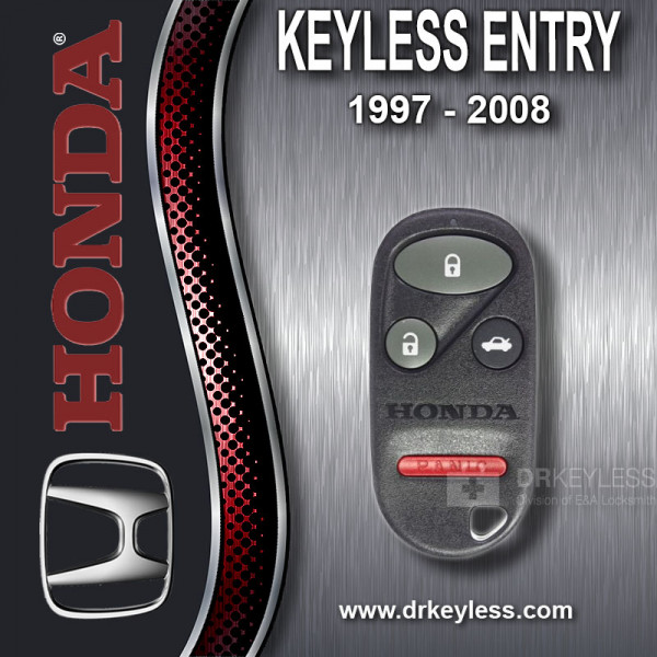 REFURBISHED Honda Keyless Entry Remote 4B Trunk / E4EG8DJ / 1997 - 2008