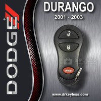 REFURBISHED<br>Dodge Durango<br>Keyless Entry Remote 3B - 4686481 GQ43VT17T / 2001-2003